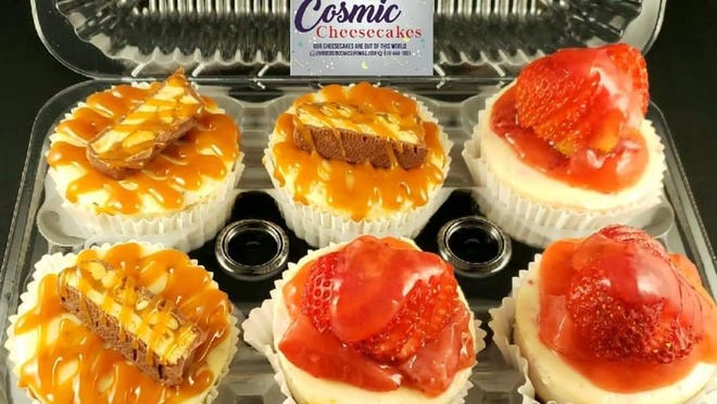 Chris's Cosmic Cheesecakes are available in mini sizes.