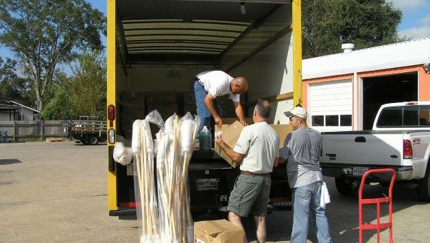 Volunteers from Global Uplift also responded to help victims of Hurricane Katrina.