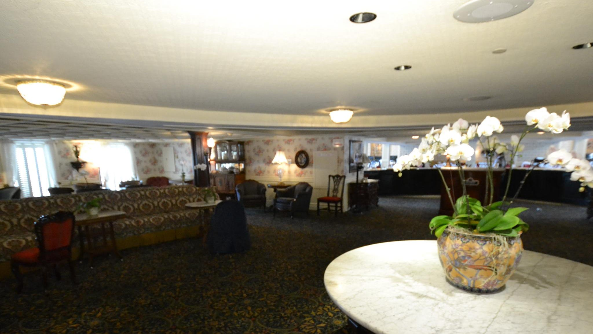 Public areas on the American Queen have a Victorian flair, as seen here in the ship's main deck Lounge.
