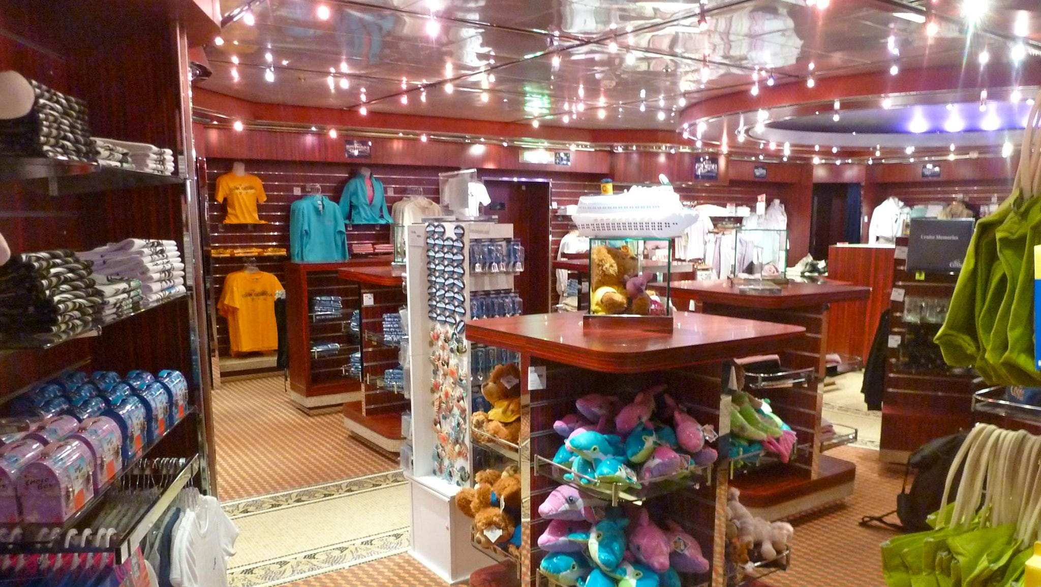 Here is one of the sundry and clothing shops in the Galleria shopping area.
