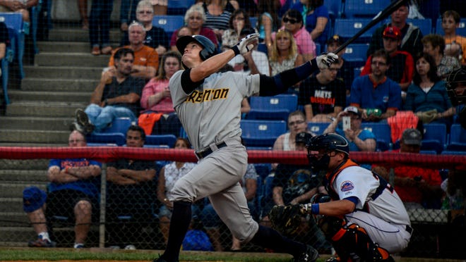 Trenton's Peter O'Brien hit 29 home runs in his first 88 games this season between Single-A Tampa and Double-A Trenton.