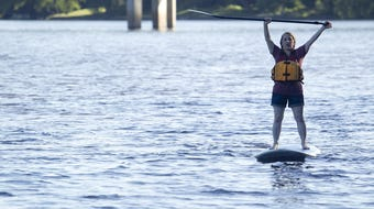 Stand-up paddleboarding can be a workout or just a pleasant way to float on the river. SUP the Rapids owner Kim Kinsey and Wisconsin Rapids Daily Tribune reporter Caitlin Shuda take to the river.