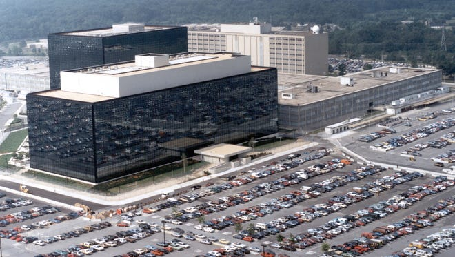 Located on the grounds of Fort Meade, the NSA headquarters for the nation's premier covert intelligence-gathering organization are housed in two high-rise office structures, and in other structures on the base. At least 20,000 employees work for the NSA at Fort Meade.