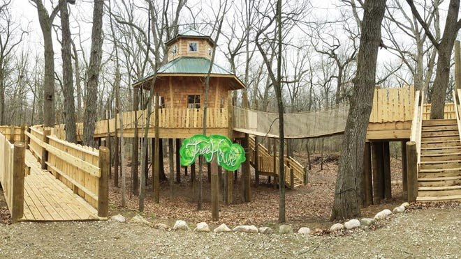 Final touches are being applied to The Tree House at Alexandria's Nature Scape in preparation for the grand opening Saturday.