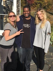 Willis Williams is flanked by  director Sarah Pirozek,