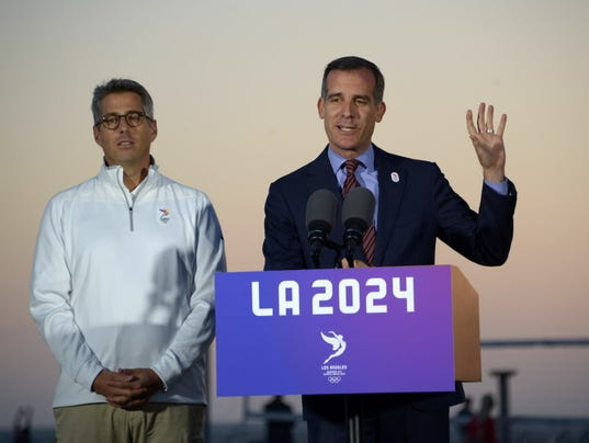 USP OLYMPIC PREVIEW: IOC COMMISSION VISIT LA2024 S OLY USA CA