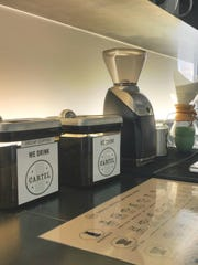 Locally roasted Cartel coffee and Chemex Coffeemakers