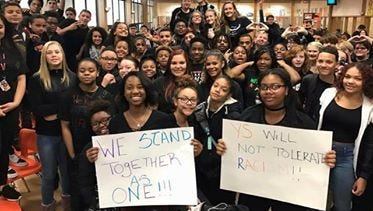 York Suburban High School students wore black on Friday to support racial equality at York County School of Technology.