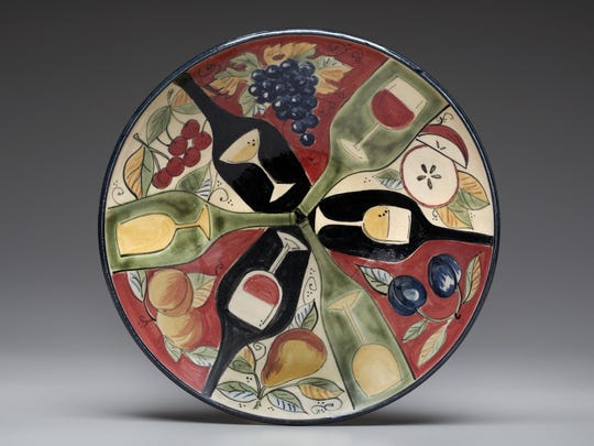 Clay plate by Gills Rock Stoneware, one of the locations taking part in this weekend's Ellison Bay Spring Art Crawl.