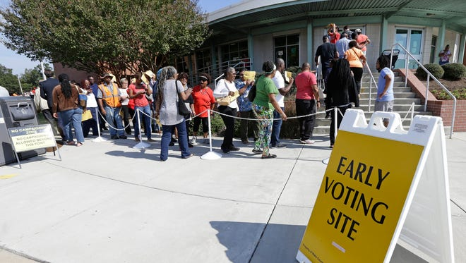 Early voting in Raleigh, N.C., on Oct. 20, 2016.