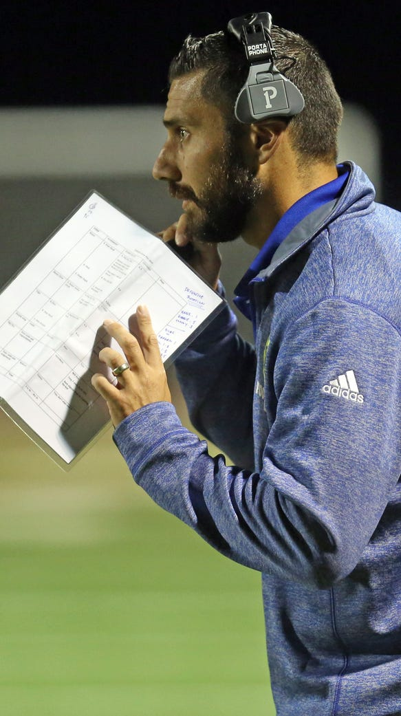 Ardsley's head coach Dan DiFalco on the sidelines during