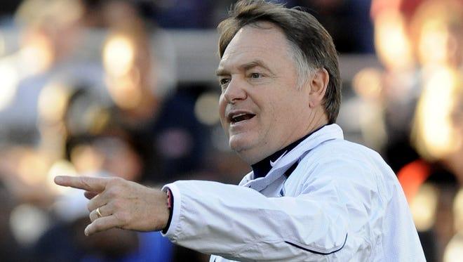 Coach Houston Nutt spoke to the Montgomery Quarterback Club on Tuesday.