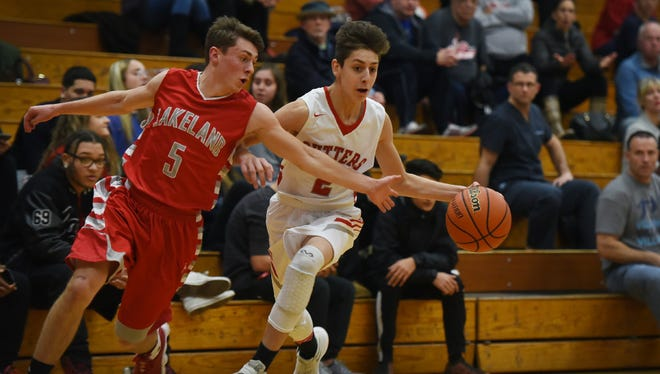 Senior Connor Lyon, left, and the Lakeland Regional boys' basketball team tip off the 2017-18 season on Friday night against league rivals Passaic Valley.