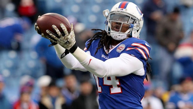 Nov 9, 2014; Orchard Park, NY, USA; Buffalo Bills wide receiver Sammy Watkins (14) catches a ball before a game against the Kansas City Chiefs at Ralph Wilson Stadium. Mandatory Credit: Timothy T. Ludwig-USA TODAY Sports