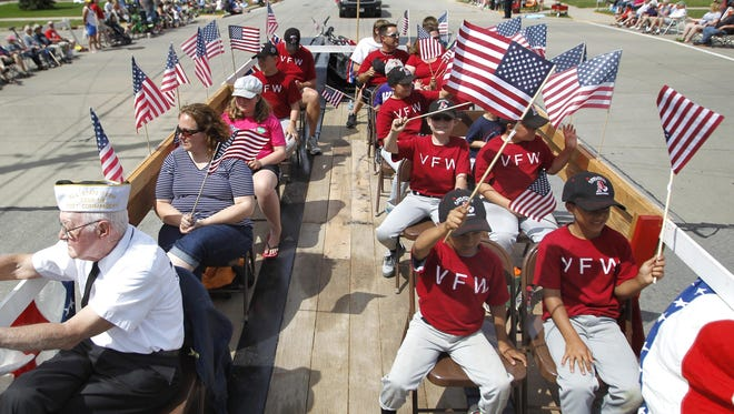 The 65th annual Appleton Flag Day Parade starts at 2 p.m. Saturday in downtown Appleton.