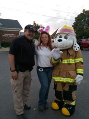 Sparky the Fire Dog was in attendance during the Trick or Treat event.