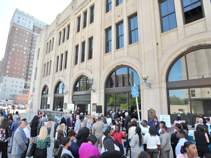 A welcoming ceremony and ribbon cutting on Thursday,