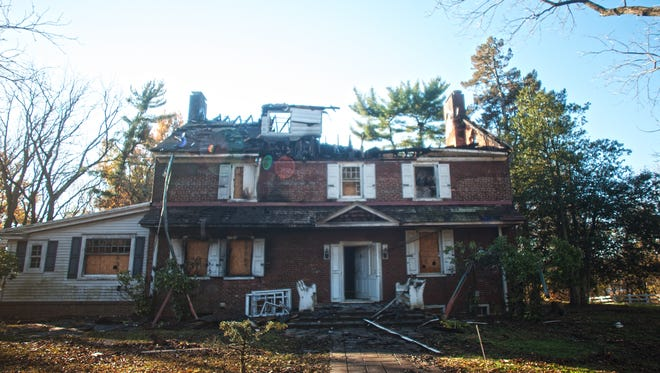 The aftermath of a major fire at the former Rowan Mansion in Westampton.