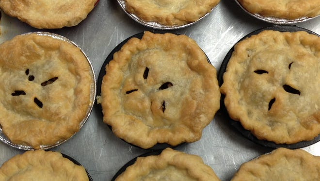 Meat pies and veggie pies at Felicia's Hive 45 Kitchen + Bakery.