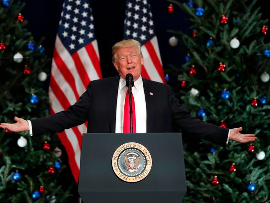 President Donald Trump speaks about tax reform Wednesday,