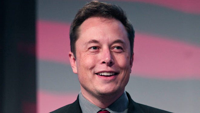 Elon Musk, co-founder and CEO of Tesla Motors, speaks at the 2015 Automotive News World Congress January 13, 2015 in Detroit.