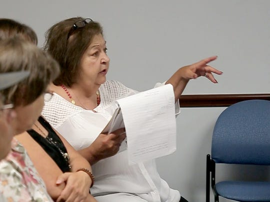 """To me, it wasn't a matter of if. It was a matter of when,"" Kimberly Flynn Knapp says of her daughter's death. Knapp spoke Tuesday, July 11, 2017, at the Bellville Village Council meeting."