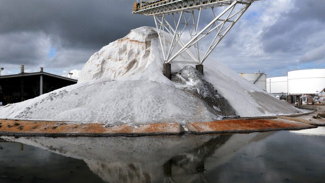 Solar salt imported from the Bahamas for industrial use is among the commodities Morton Salt ships into Port Canaveral's North Cargo Piers 1 and 2.