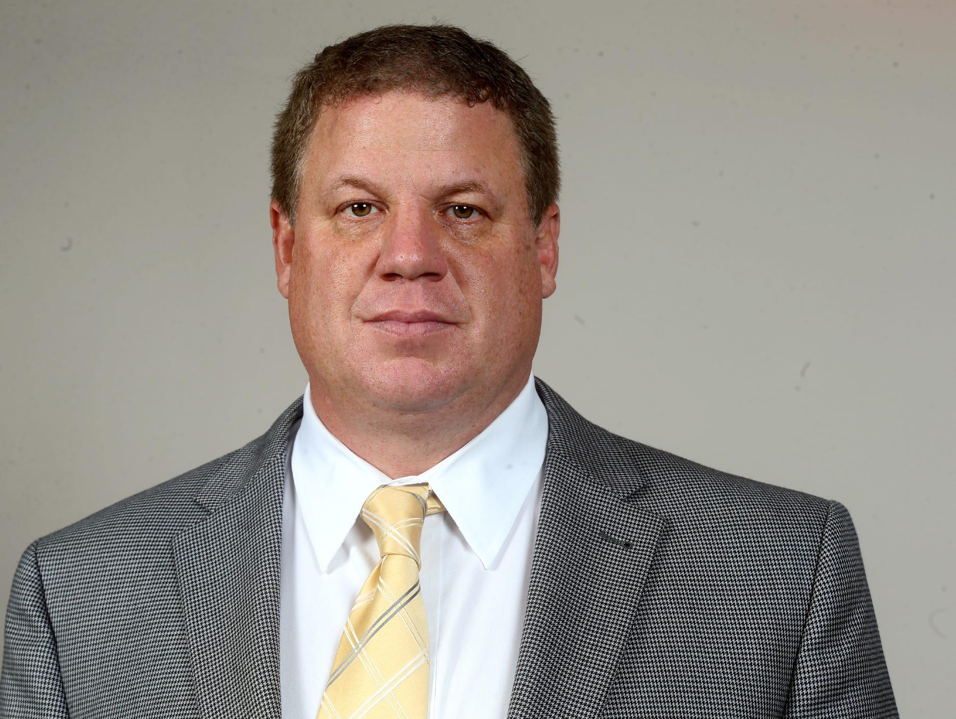Coach Steve Matthews, head football coach for Knoxville Catholic, on Monday, Nov. 30, 2015, at the 2015 Mr. Football awards at Nissan Stadium.