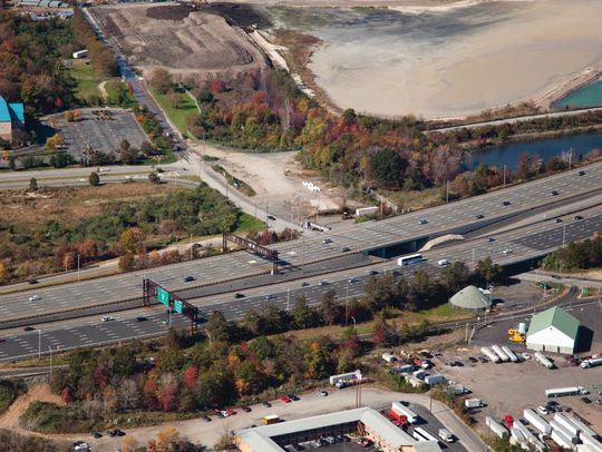 A diagram of the ongoing Garden State Parkway improvements