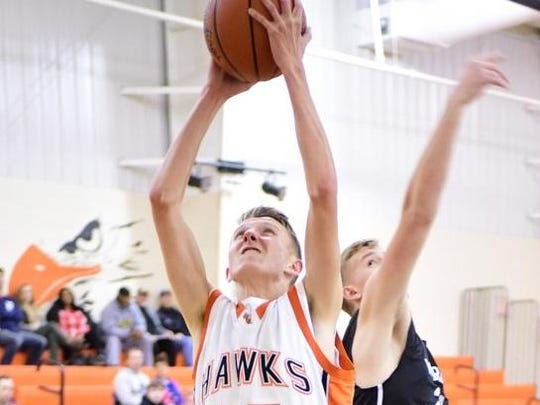 Huron Valley Lutheran's Jacob Haines looks to finish