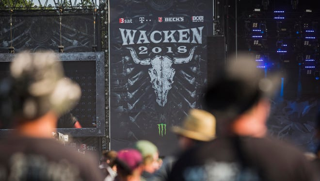 General view of the Wacken Open Air festival on August 2, 2018 in Wacken, Germany. Wacken is a village in northern Germany with a population of 1,800 that has hosted the annual festival, which attracts heavy metal fans from around the world, since 1990.