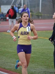 Albion College junior Jessica Shaw.