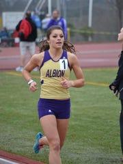 Albion College junior Jessica Shaw.