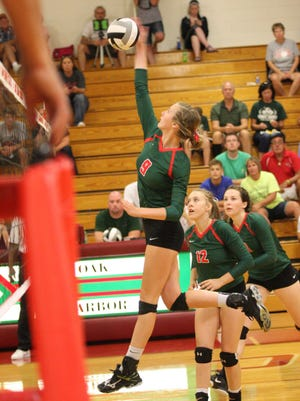 Oak Harbor's Peyton Bloomer established a school-record with 419 kills as a sophomore.