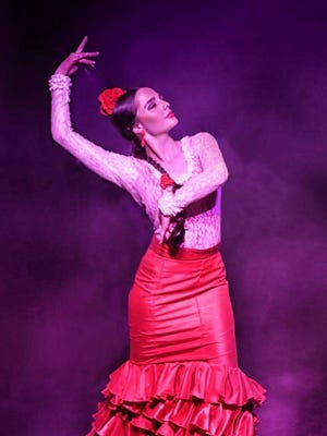 Flamenco dancer Emmy Grimm, known onstage as La Emi, will perform with Vicente Griego at the Ramada Palms Lava Lounge, 201 E. University Ave. on Friday.