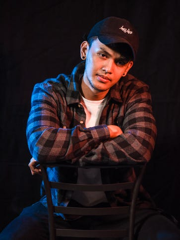 Singer Jed Antonio poses for a portrait in Dededo on