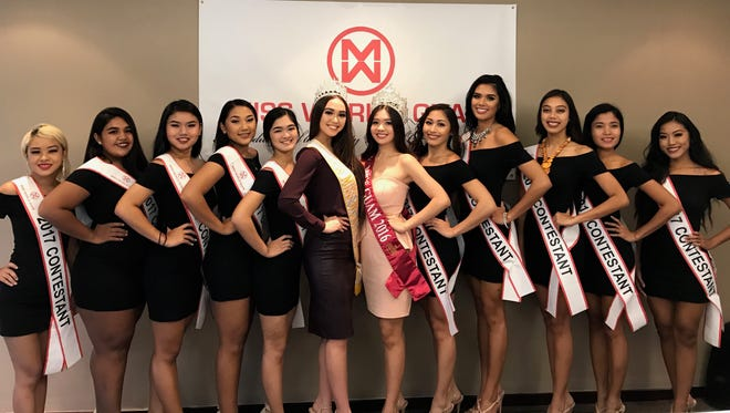 Miss World Guam 2017 contestants announce their charities of choice at a press conference Wednesday, Sept. 13 at the Sheraton Laguna Guam Resort.