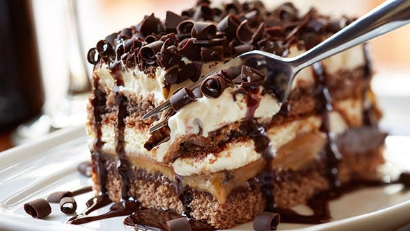 Chocolate caramel lasagna is one of the three lasagna items in the Olive Garden menu.