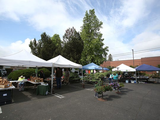 The Original Independence Farmers Market has been operating for 23 years. Photo taken on Saturday, May 30, 2015, in Independence, Oregon.