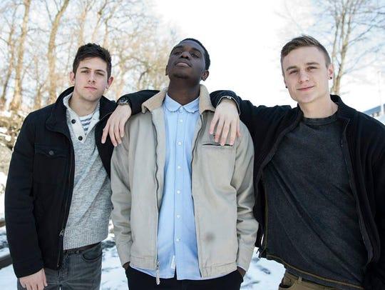 Brad Hartman (left), Najee Parker (center) and Lucas