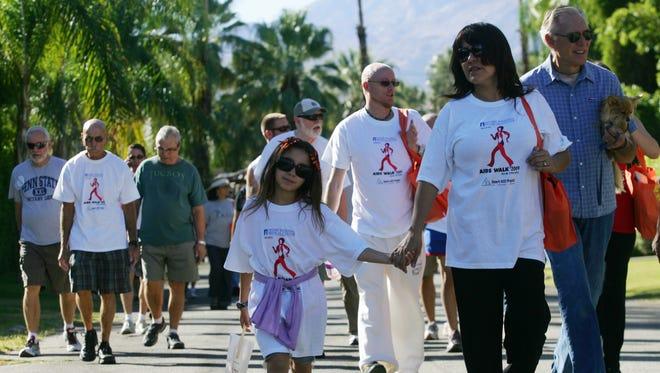 Participants in Desert AIDS Walk.