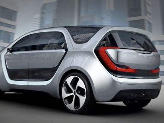 Chrysler tried to make its Portal concept look as high-tech