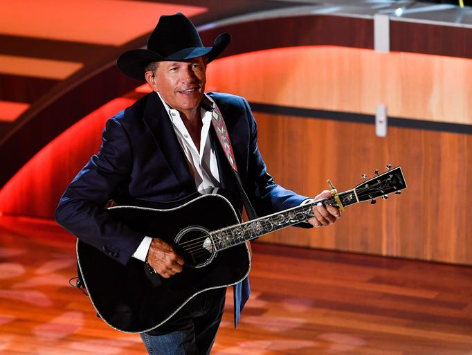 George Strait performs during the 11th annual Academy