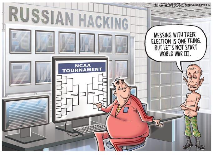 The cartoonist's homepage, freep.com/opinion/mike-thompson