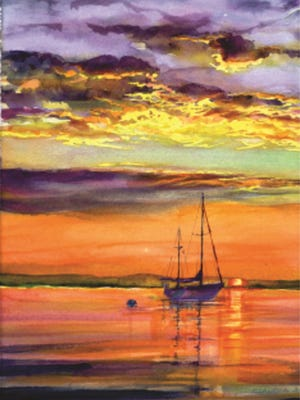 """""""Sailors' Delight"""" by Claudia Engel is among the works in the """"Hudson River Musings"""" group show at Betsy Jacaruso Gallery in Rhinebeck through Jan. 31."""