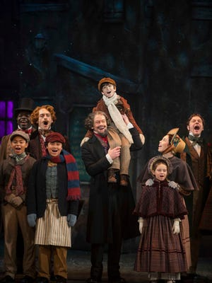 """In December the Milwaukee Repertory Theatre will stream two different versions of the """"Christmas Carol"""" story online, including a multi-camera video of its 2016 production, featuring Jonathan Wainwright as Scrooge."""