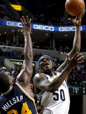 January 7, 2011 -  Memphis Grizzlies Zach Randolph