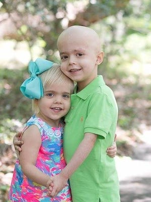 Community members are raising funds for five-year-old Fletcher Huddleston, who was diagnosed with B-cell lymphoma in February.