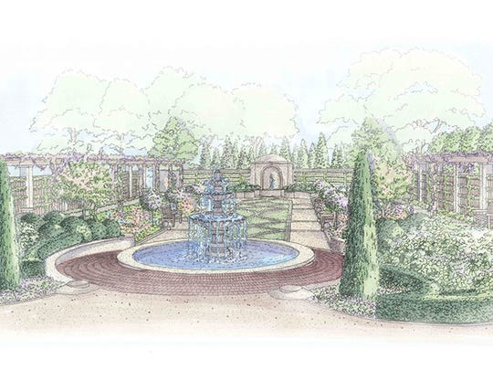 A rendering of the Paine Art Center and Gardens new Formal Garden. The Paine broke ground on the garden in April 2017. It's expected to be completed by September 2017.