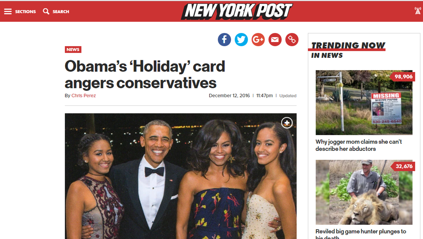 Fact check do the obamas say merry christmas on their holiday cards kristyandbryce Choice Image